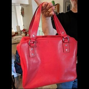 Kate Spade Red Leather Box Tote